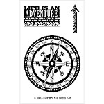 "Hot Off The Press - Clear Stamps - Small Compass (2""x3"" set)"