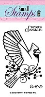 Hot Off The Press - Mini Clear Stamps - Small Cardinal