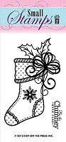 Hot Off The Press - Clear Stamps - Small Stocking