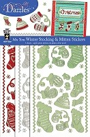 Hot Off The Press - Dazzles Stickers - Mix Ems - Stocking & Mitten