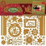 Hot Off The Press - 6x9 Dazzles Sticker Sheets - Christmas Lace