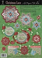 Hot Off The Press - 3D Papier Tole - Christmas Lace Foil Papier Tole