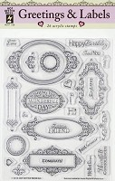Hot Off the Press - Mini Clear Stamps - Greetings & Labels