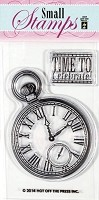 Hot Off the Press - Mini Clear Stamps - Pocket Watch