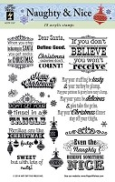 Hot Off the Press - Mini Clear Stamps - Naughty or Nice