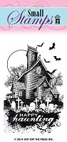 Hot Off the Press - Mini Clear Stamps - Haunted House