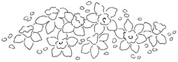 Impression Obsession Cling Mounted Rubber Stamp - Daffodil Border