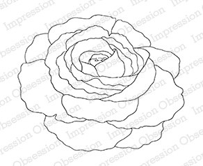 Impression Obsession - Cling Mounted Rubber Stamp - By Tara Caldwell - Rose