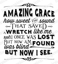 Impression Obsession - Cling Stamp - by Dina Kowal - Amazing Grace