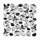 Impression Obsession - Cling Mounted Rubber Stamp - Cover A Card - Hand Carved Halloween