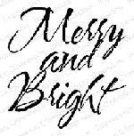 Impression Obsession - Cling Mounted Rubber Stamp - By Alesa Baker - Merry & Bright