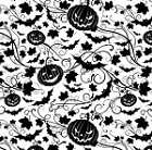 Impression Obsession Cling Mounted Rubber Stamp - Cover-A-Card Halloween