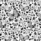 Impression Obsession Cling Mounted Rubber Stamp - Cover-A-Card Butterflies