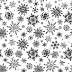 Impression Obsession Cling Mounted Rubber Stamp - Cover-A-Card Snowflakes