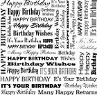 Impression Obsession Cling Mounted Rubber Stamp - Cover-A-Card Birthday Words