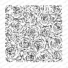 Impression Obsession - Cling Mounted Rubber Stamp - Cover A Card - Sketched Roses