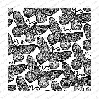 Impression Obsession - Cling Mounted Rubber Stamp - Cover A Card - Lace Butterflies