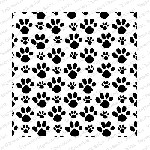 Impression Obsession - Cling Mounted Rubber Stamp - Cover A Card - Pawprints