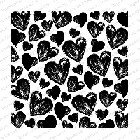 Impression Obsession - Cling Mounted Rubber Stamp - Cover A Card - Painted Hearts