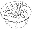 Impression Obsession Cling Mounted Rubber Stamp - Everything's Rose Cupcake