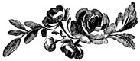 Impression Obsession - Cling Stamp - Vintage Rose Spray - By Alesa Baker