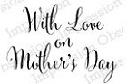 Impression Obsession Cling Mounted Rubber Stamp by Alesa Baker - Mother's Day