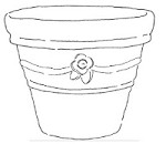 Impression Obsession Cling Mounted Rubber Stamp by Alesa Baker Designs - Flower Pot