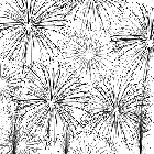 Impression Obsession Cling Mounted Rubber Stamp - Cover-a-Card Fireworks