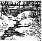 Impression Obsession - Cling Mounted Rubber Stamp - Cover A Card - Winter Scene