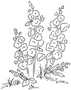 Impression Obsession Cling Mounted Rubber Stamp - Lovely Flower Stems
