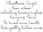 Impression Obsession - Cling Stamp - Christmas Angel - By Alesa Baker