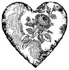 Impression Obsession - Cling Stamp - Victorian Heart - By Alesa Baker