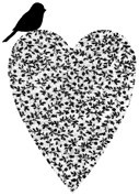 Impression Obsession - Cling Stamp - Rose Vine Heart - By Alesa Baker