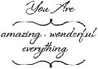 Impression Obsession - Cling Stamp - You Are Everything