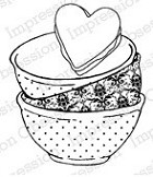Impression Obsession - Cling Stamp by Alesa Baker - Bowls Full of Love