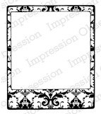Impression Obsession - Cling Stamp by Alesa Baker - Damask Photo Frame