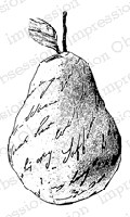 Impression Obsession - Cling Mounted Rubber Stamp - By Alesa Baker - Print Pear