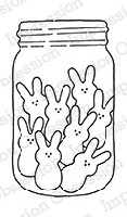 Impression Obsession - Cling Mounted Rubber Stamp - By Alesa Baker - Sweet Bunny Jar