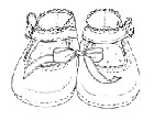 Impression Obsession - Cling Stamp - Baby Shoes