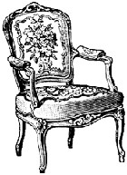 Impression Obsession - Cling Stamp - Victorian Rose Chair - By Alesa Baker