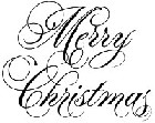 Impression Obsession - Cling Mounted Rubber Stamp - Elegant Merry Christmas