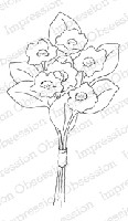Impression Obsession - Cling Mounted Rubber Stamp - By Alesa Baker - Sunny Flower Bouquet Small