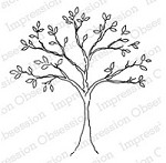 Impression Obsession Cling Mounted Rubber Stamp by Alesa Baker - Gentle Tree