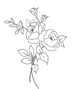 Impression Obsession Cling Mounted Rubber Stamp by Alesa Baker Designs - Small Rose Bouquet