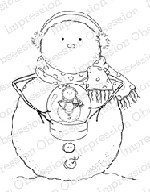 Impression Obsession - Cling Mounted Rubber Stamp - By Alesa Baker - Snowglobe Love