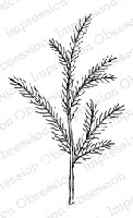 Impression Obsession - Cling Mounted Rubber Stamp - By Alesa Baker - Soft Single Pine Branch