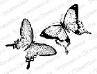 Impression Obsession - Cling Mounted Rubber Stamp - By Alesa Baker - Butterfly Pair