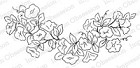 Impression Obsession Cling Mounted Rubber Stamp by Alesa Baker - Morning Glory Vine