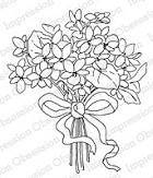 Impression Obsession Cling Mounted Rubber Stamp by Alesa Baker - Violet Bouquet