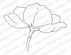 Impression Obsession - Cling Mounted Rubber Stamp - By Alesa Baker - Large Single Poppy